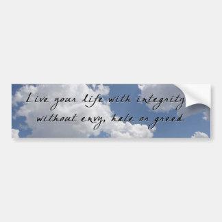 Integrity on Clouds Bumper Sticker