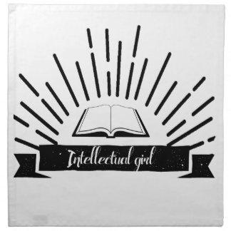 Intellectual Girl Funny Nerd Slogan Print Napkin
