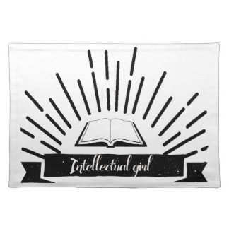 Intellectual Girl Funny Nerd Slogan Print Placemat