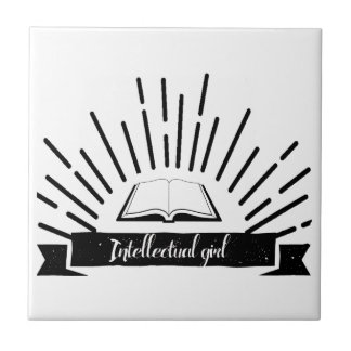 Intellectual Girl Funny Nerd Slogan Print Tile