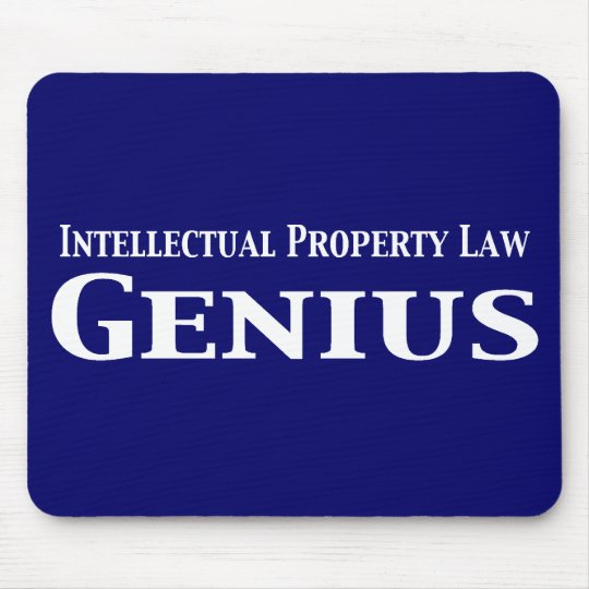 Intellectual Property Law Genius Gifts Mouse Pad