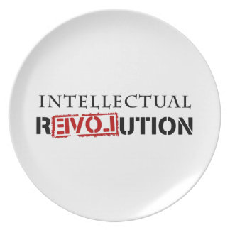 Intellectual rEVOLution Dinner Plate