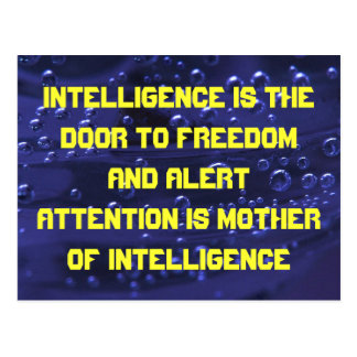 intelligence postcard