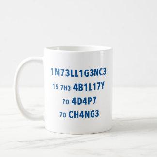 Intelligence Quote Motivational Mug