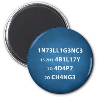 Intelligence Quote Round Magnet