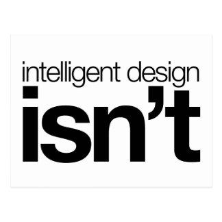 Intelligent design ... isn't! postcard