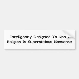 Intelligently Designed Bumper Sticker