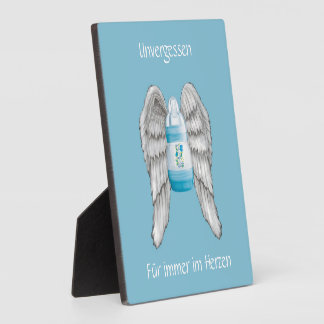 Intending photo plate for star child parents plaque