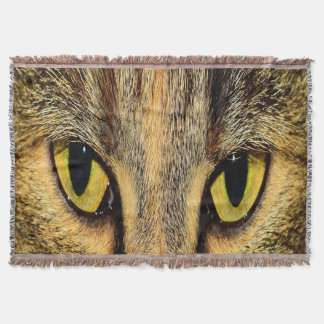 Intense Cat Eyes Throw Blanket