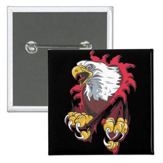 Intense Eagle 2 Inch Square Button
