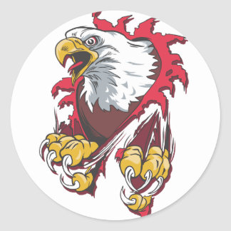 Intense Eagle Classic Round Sticker