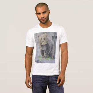 Intense Grizzly Bear Drawing T-Shirt