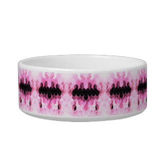 Intense Pink & Black Geometric Design Bowl