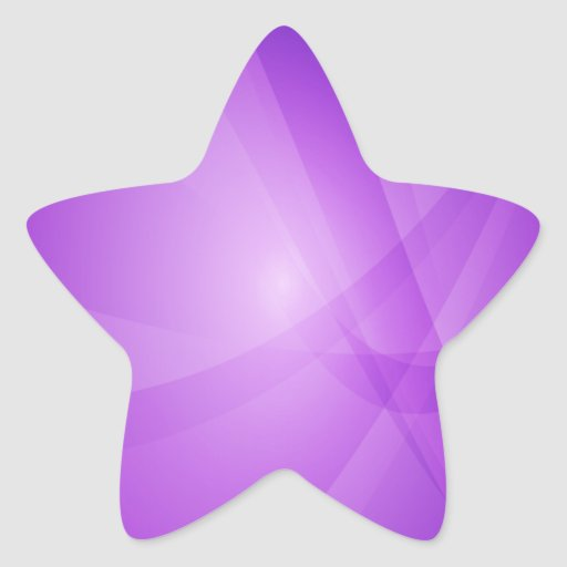 Intense, Purple, Violet, Lilac Star Stickers