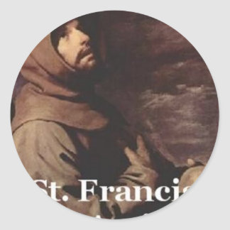 Intense St Francis Assisi gift Franciscan Classic Round Sticker