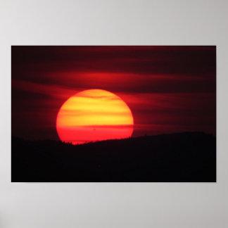 Intense Sunset Poster