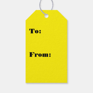 Intensely Brilliant Yellow Color Gift Tags