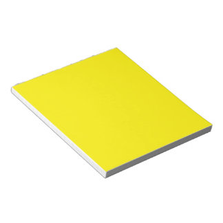 Intensely Brilliant Yellow Color Notepad