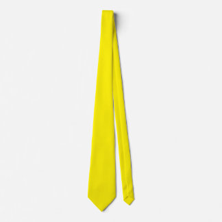 Intensely Brilliant Yellow Color Tie