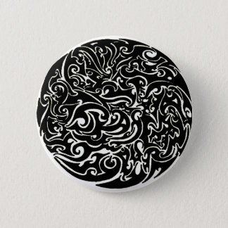Intensity black on white 2 inch round button