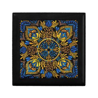 Intensity - contrast mandala pattern gift box