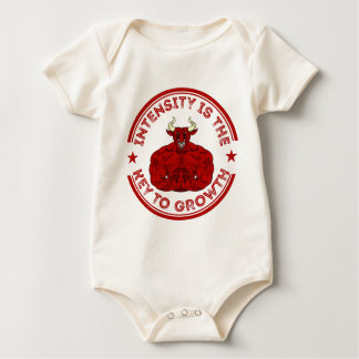 Intensity Is The key ton of Growth bodybuilding Baby Bodysuit