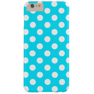 Intensive Turquoise Color And Big White Polka Dots Barely There iPhone 6 Plus Case