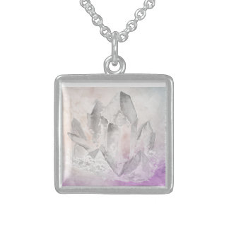 *~* Intention Amethyst Crystal Healing Energy Sterling Silver Necklace