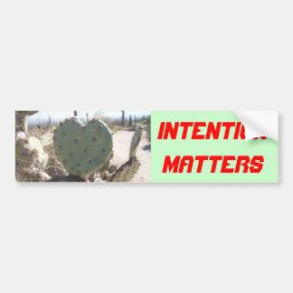 Intention bumper sticker car bumper sticker
