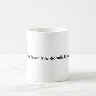 Intentionally Blank Mug