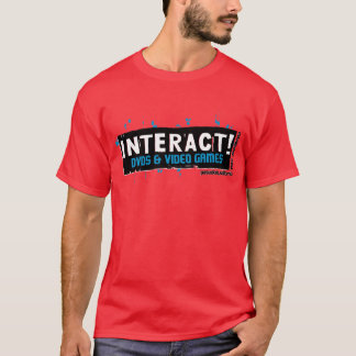 Interact! White Over Turquoise T-Shirt