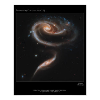 Interacting Galaxies ARP-273 Poster