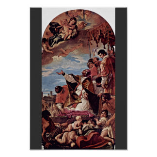 Intercession, Pope Gregory The Great (The Plague) Poster