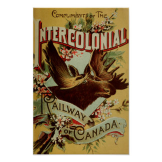 Intercolonial Railway off Canada Ancient Poster