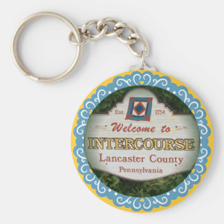 Intercourse Keychain! Lancaster PA Keychain
