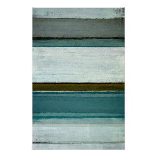 'Interest' Teal Abstract Art Poster