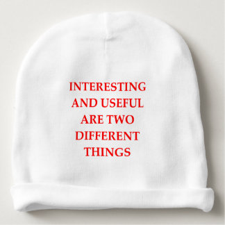 INTERESTING BABY BEANIE