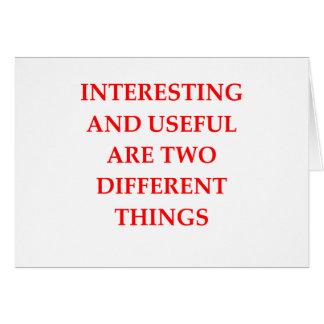 INTERESTING CARD