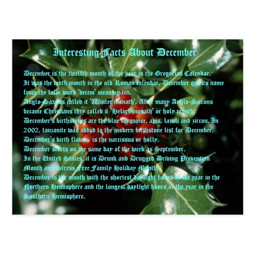 Interesting Facts About December Postcards
