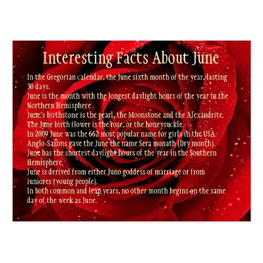 Interesting Facts About June Post Cards