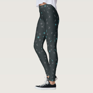 Interesting Numeric symbol pattern with grindle Leggings