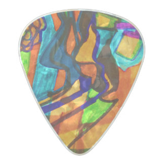 Interesting Pearl Celluloid Guitar Pick