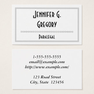 Interesting & Professional Paralegal Business Card
