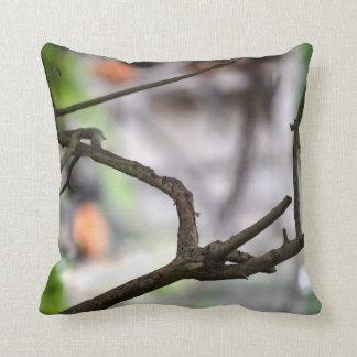 Interesting shaped random stick tree image throw pillow
