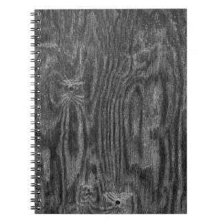 Interesting Wood Texture Spiral Notebook