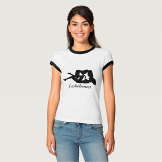 Intérêt lesbien de Lesbehonest des sentiments T-shirt