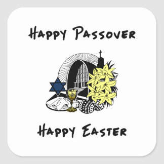 Interfaith Passover and Easter Square Sticker