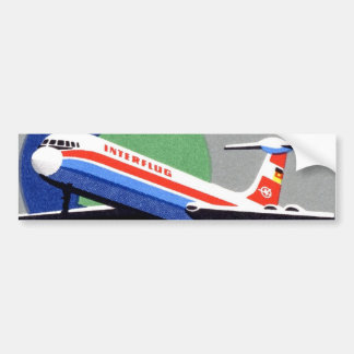 INTERFLUG - National Airline of DDR, East Germany Bumper Sticker