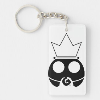Intergalactic Super Gamer (Black logo) Double-Sided Rectangular Acrylic Keychain