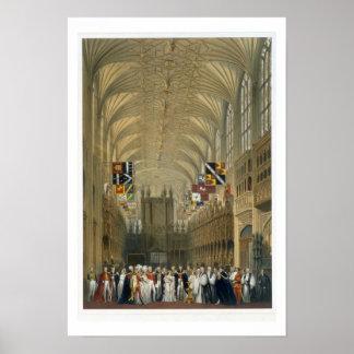 Intérieur de la chapelle de St George, 1838 (litho Poster
